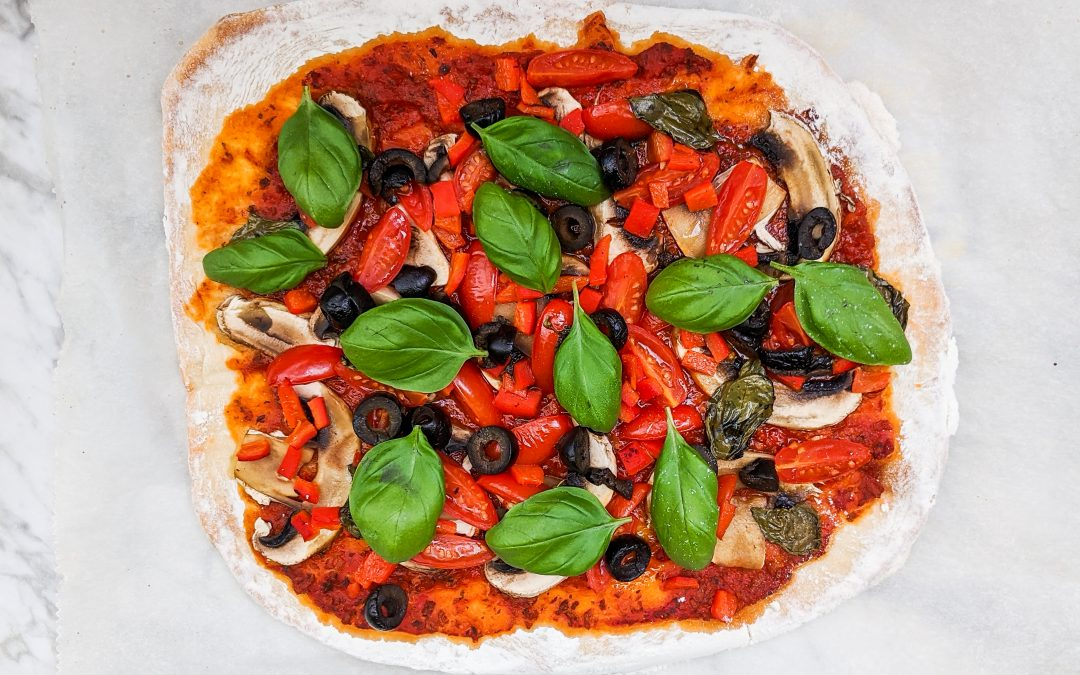 Vegan Homemade Pizza – Including Pizza Base Recipe